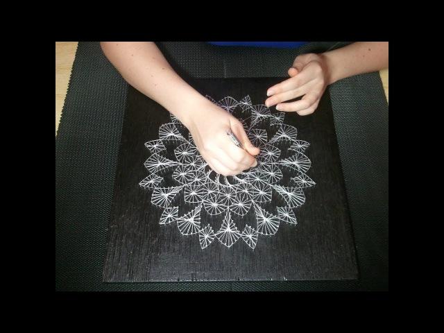 Гипнотизирующая картина. How to make hypnotic picture. String art