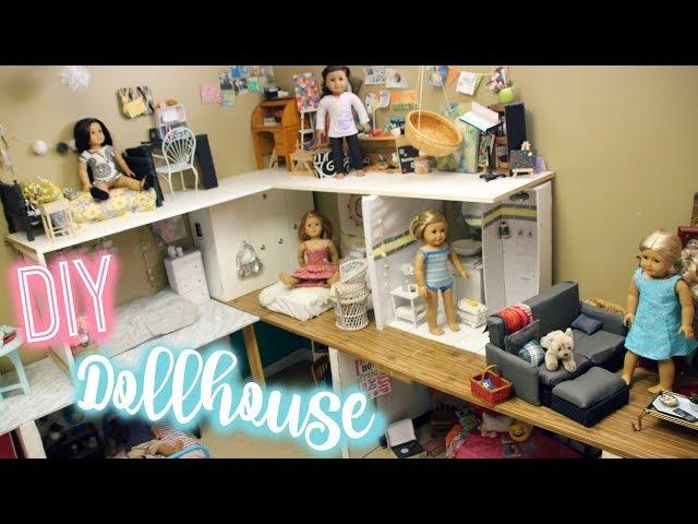HOW TO MAKE AN AMERICAN GIRL DOLLHOUSE | Diy American Girl House