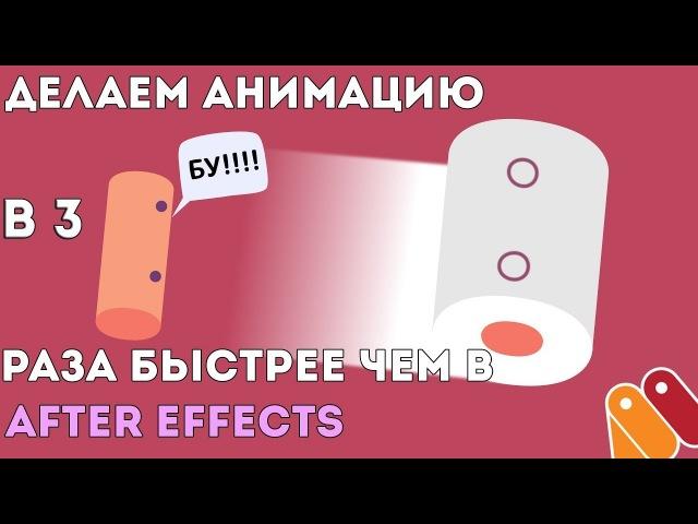 Делаем анимацию в 3 раза быстрее чем в After Effects. Испуганная туалетная бумага. Anime Studio Moho