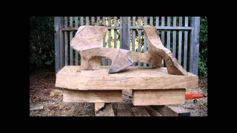 Carving the sculptural table Guardians. David Groth documentary, chapter 5 of 9.