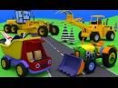 Мультики про строительную и дорожную технику. Грузовик Тема и трактор Макс. Сборник приключений.