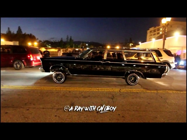 Lowriders on Hollywood Blvd cruise 2017 raw footage