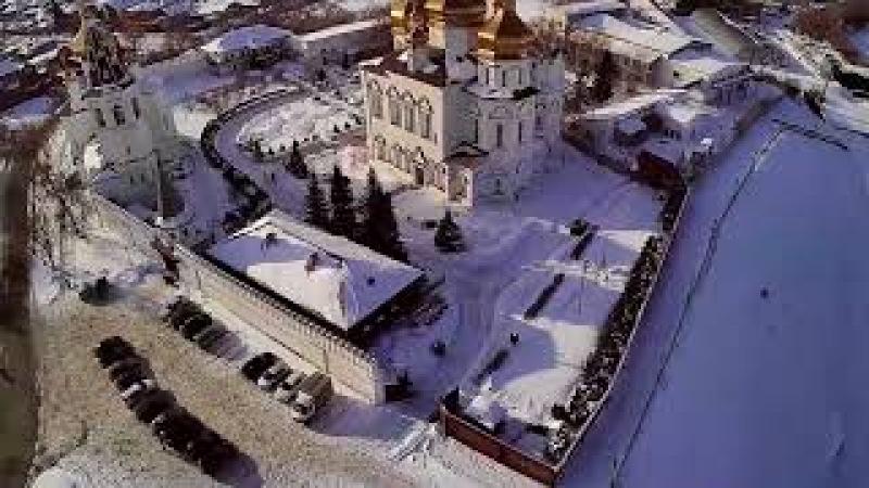 Тюмень. Свято-Троицкий монастырь. Вид с высоты.