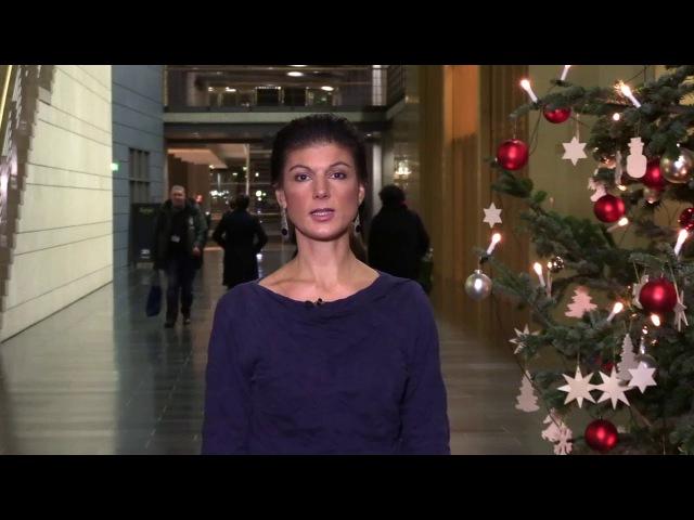 Sahra Wagenknecht wünscht schöne Weihnachten