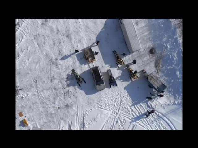 Чемпионат Пермского края по снегоходному кроссу / Snowmobiles racing / LYSVA 10-03-18 / DJI MAVIC AIR