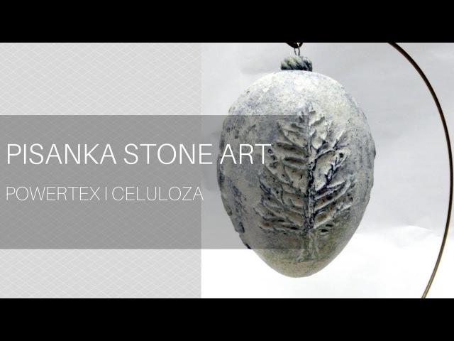 Pisanka stone art powertex krok po kroku