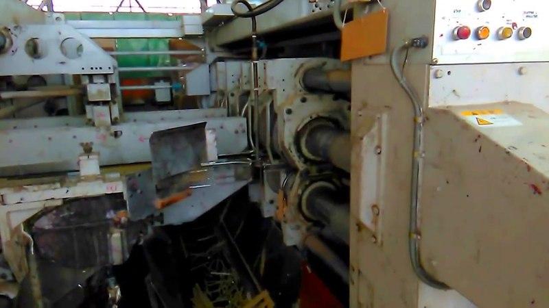 Работа конвеера по производству картонной упаковки (КГС №1).
