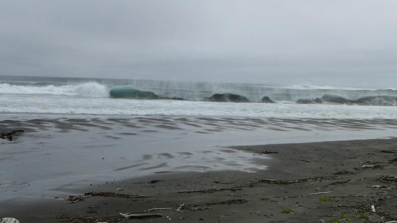 Штром на Тихом океане о. Уруп