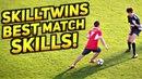 SkillTwins BEST MATCH FOOTBALL Skills! (Goals/Skills/Tricks/Pannas/Soccer Dribbling)