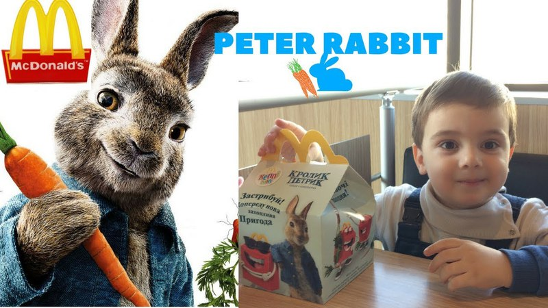 Peter Rabbit Movie McDonald's Happy Meal Toys Nazir opeing HappyMeal KIDS FOR VIDEO