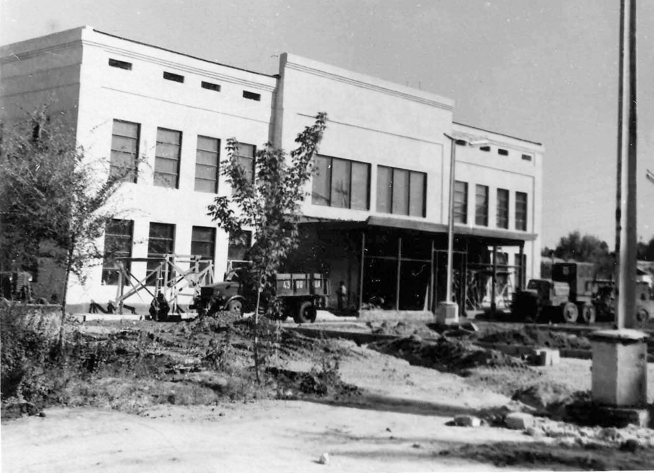 Строительство драмтеатра. 1967 год