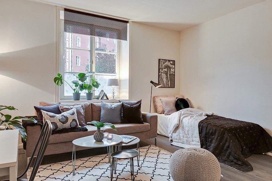 Интерьер шведской квартиры-студии 26,5 м.