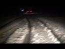 Ночная дорога на Атыш по льду река Лемеза