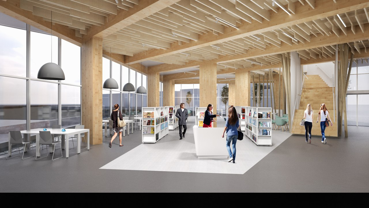 Bisset Adams Wins RIBA Competition for New Library in Thamesmead, London