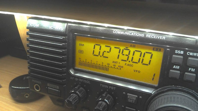 Radio Belarus 279 kHz, 20:58 UTC - final two minutes on AM