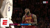 LeBron James misses FTs with 1.9 seconds left and Cavaliers down 2 to 76ers ESPN