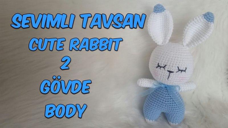 Amigurumi Örgü Oyuncak Tavşan 2 ( Gövde) Amigurumi Crochet Rabbit 2 (Body)