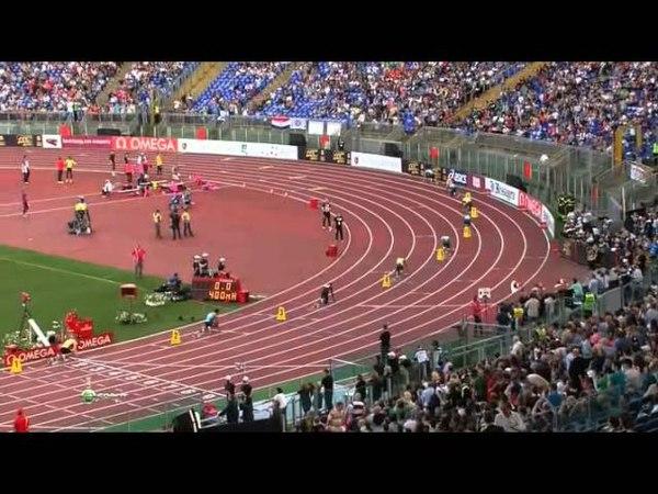 400 м барьеры Мужчины Бриллиантовая лига 2013 5 Рим