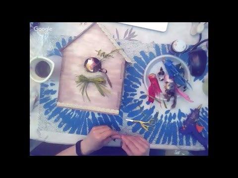"""Сотникова Анастасия """"Под крышей дома моего"""" декор интерьерного скворечника"""