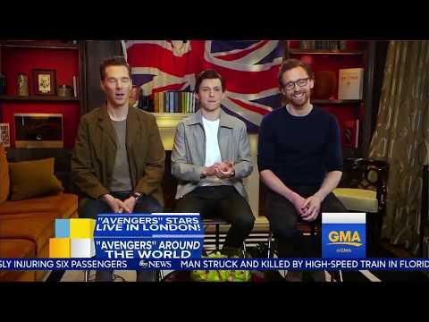 Entrevista: Benedict Cumberbatch, Tom Hiddleston y Tom Holland en GMA por Avengers: Infinity War