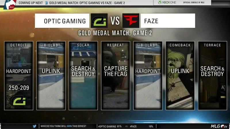 OpTic Gaming vs FaZe - GOLD Medal Match (MLG XGames Austin 2015)