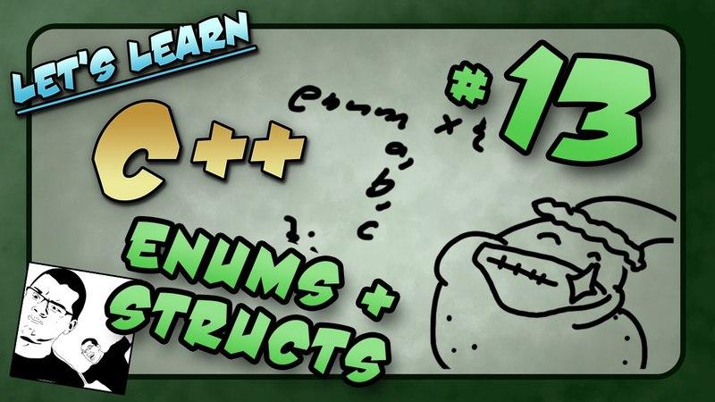 Let's Learn C ~ Basics: 13 of 14 ~ Enum, Struct, Ascii