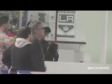 November 1: Another video of Justin and Selena Gomez at the Los Angeles Kings Valley Ice Center in Ventura, California.