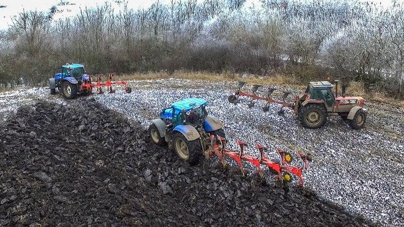 Szántás 2016 | Plowing | Pflügen | Orka - New Holland T7.270 T6.155 Fiatagri 180-90 Turbo