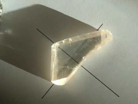 Viking Sunstones - Double refraction of Calcite Iceland spar - Viking solstein