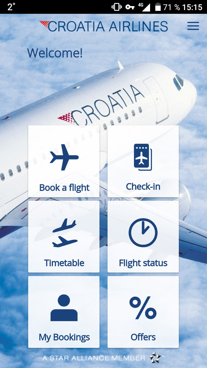 Приложение авиакомпании на Android
