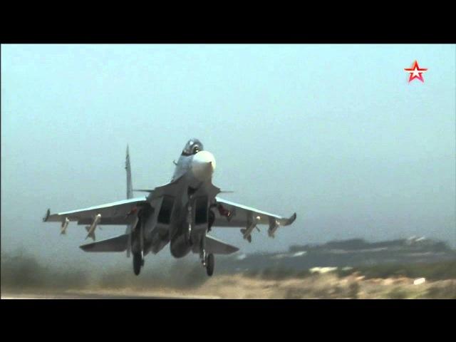 Новейшие истребители Су-35С в Сирии: кадры боевого дежурства