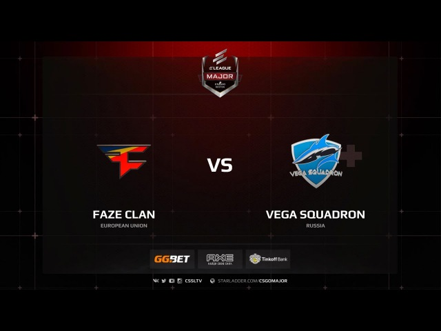 FaZe Clan vs Vega Squadron - New Challengers Stage - ELEAGUE Major Boston 2018