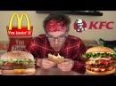 МУКБАНГ БУРГЕРЫ / MCDONALDS vs KFC / фастфуд еда / миняев илья ( илья импульс)
