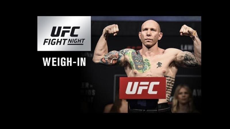 UFC Fight Night Orlando Weigh in