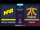 NaVi vs Fnatic RU (bo1) ESL One Katowice 2018 Major Group B 20.02.2018