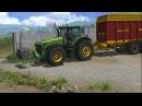 Уборочная (11 день).Работаю на John Deere 8530.Убираю траву в сенажную яму.