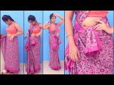 How to wear a Sari Wearing Chettinad Saree In Tamil Pinkosu Style Easy Method