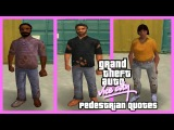 GTA Vice City Pedestrian Quotes Various Old Poor Homeless Peds