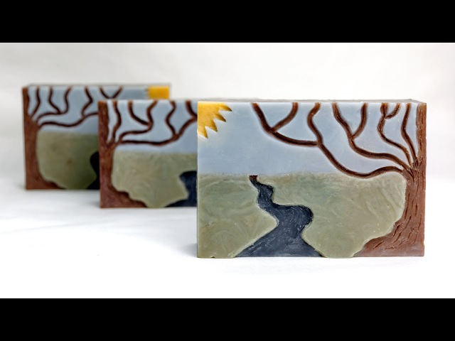 Intaglio - Carved Cold Process Soap - Great Cakes Soap Challenge