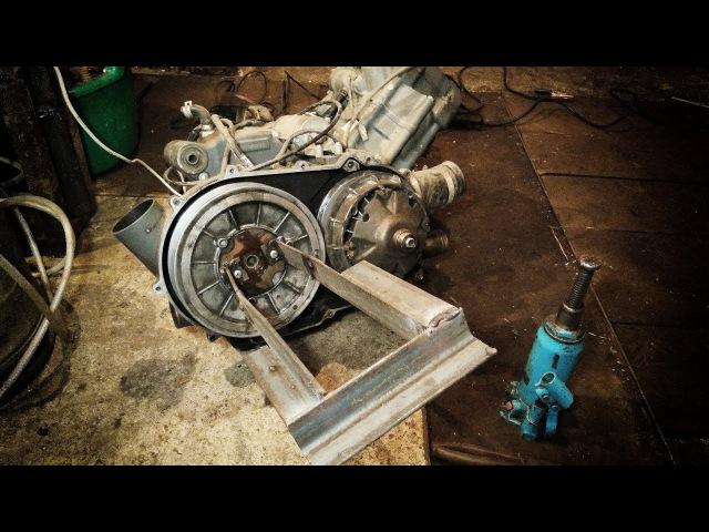 Stels 700D - проект DROVA – Двигатель, шкив и первая неудача…