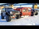 Extreme Snow Adventures - RC Trucks OFF Road MAN KAT1 The Beast RC4WD, Jeep Cherokee Axial SCX10 II