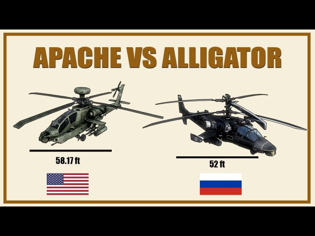 American AH 64 Apache VS Russian KA 52 Alligator - Attack Helicopter Comparison