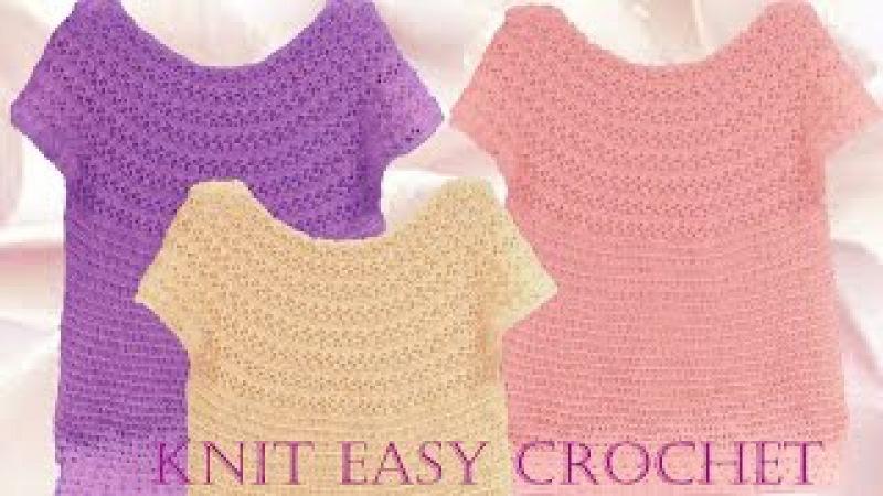 Aprende a tejer Blusas a crochet paso a paso - Learn knit easy crochet