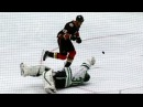 Getzlaf takes own Hail Mary pass chips puck past Bishop scores