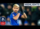 Leicester 1 0 Sheffield Utd Great Vardy Header from Superb Mahrez Assist Emirates FA Cup 2017 18