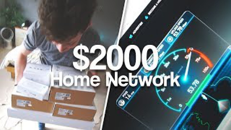 Alex's ULTIMATE Home Network Install | AC Access Points, POE Switches NAS!