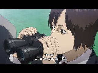 Inuyashiki - Bang   Hiro kills delinquents / Students