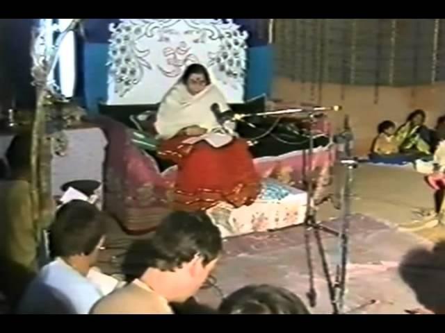 Shri Mataji singing He Adi Maa 1986 1011 Navaratri Celebrations, Kolkata