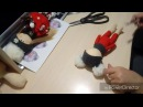 Клеим волосы шапочка и снуд куколке