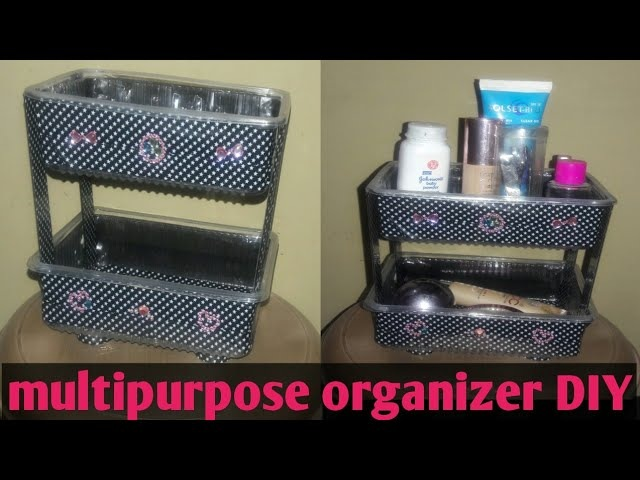 Diy organizer multipurpose organizer shelf made from boxes best out of waste